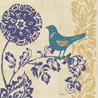 Blue Indigo Bird II Fine Art Print