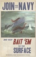 Sub Squid Navy Fine Art Print