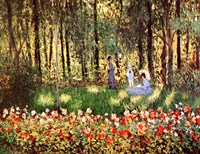 Family in Garden, Argenteuil by Claude Monet - various sizes