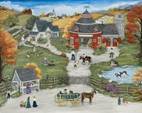 Grandpa's Barn Yard - Grandma's Garden Fine Art Print