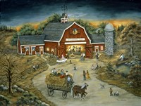 Barn Dance At O'Flannery Farm Fine Art Print