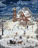 Christmas At Crystal Bay Lighthouse Fine Art Print