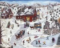 Kringle's Christmas Trees Fine Art Print