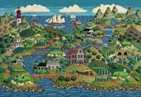 Greens By The Sea Fine Art Print