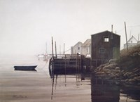 Misty Harbor Fine Art Print