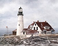 Winter At Portland Head Fine Art Print