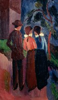 Promenade Of Three People I,  1914 Fine Art Print