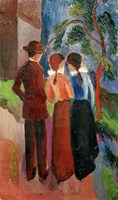 Promenade Of Three People II, 1914 Fine Art Print
