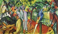 Zoologischer Garten I - Zoological Garden I, 1912 by August Macke, 1912 - various sizes