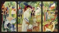 Grosser Zoologischer Garten (Triptychon) Fine Art Print