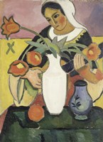 The Lute Player, 1910 by August Macke, 1910 - various sizes