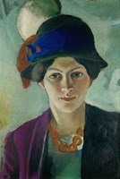 Elisabeth Macke With Hat, 1909 by August Macke, 1909 - various sizes