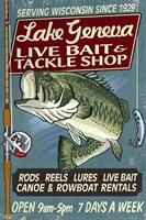 Lake Geneva Live Bait by Lantern Press - various sizes