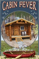 Cabin Fever Lodge by Lantern Press - various sizes