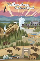 Yellowstone Park Scene Fine Art Print