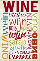 Wine In Different Languages Fine Art Print