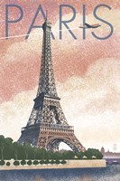 Paris Pink Eiffel Tower Fine Art Print