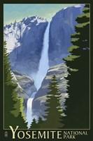 Yosemite Mountains And Trees Fine Art Print