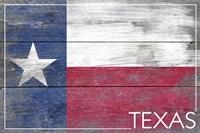 Texas Flag Wood Fine Art Print