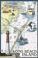 Long Beach Island Map by Lantern Press - various sizes