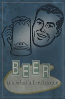 Beer For Dinner Fine Art Print