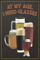 I Need Glasses Of Beer Fine Art Print