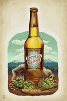 American Light Lager Beer by Lantern Press - various sizes, FulcrumGallery.com brand