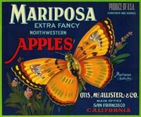 Mariposa Apples Butterfly Ad Fine Art Print