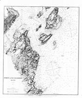 Portland Harbor, Maine Map Fine Art Print