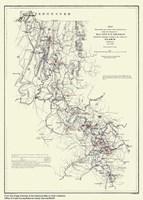 Atlanta, Georgia Map by Lantern Press - various sizes