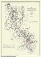 Atlanta, Georgia Map Fine Art Print