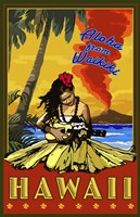 Aloha From Waikiki by Lantern Press - various sizes