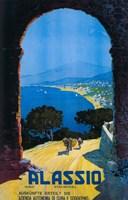 Alassio Italien Riviera German Ad by Lantern Press - various sizes