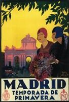Madrid Temporada de Primavera Ad Fine Art Print