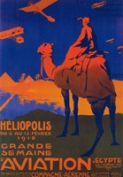 Heliopolis Aviation Ad Fine Art Print