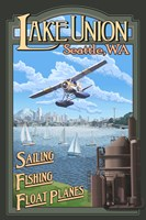 Lake Unions Seattle Fishing Fine Art Print