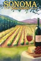 Sonoma Wine Country Ad Fine Art Print
