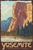 Yosemite National Park Scene I Framed Print