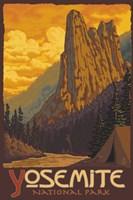 Yosemite National Park Scene III Framed Print