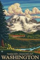 Paradise Valley Washington Ad Fine Art Print