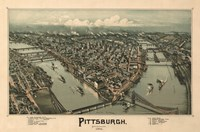 Pittsburgh Map, 1902 Framed Print