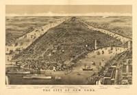 City of New York Map Fine Art Print