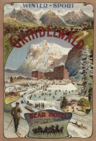 Winter Sport Grindelwald by Lantern Press - various sizes, FulcrumGallery.com brand