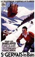St Gervais Les Bains Ad by Lantern Press - various sizes - $45.49