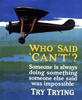 Who Said Can't Airplane by Lantern Press - various sizes - $38.99