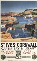 St Ives Cornwall Sands by Lantern Press - various sizes, FulcrumGallery.com brand