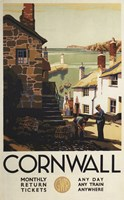 Cornwall Village Train Ad Fine Art Print