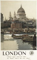 London St. Paul's Ad Fine Art Print