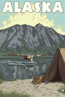 Alaska Plane Lake Campsite by Lantern Press - various sizes