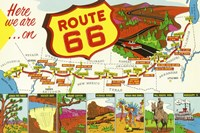 Route 66 Here We Are Fine Art Print